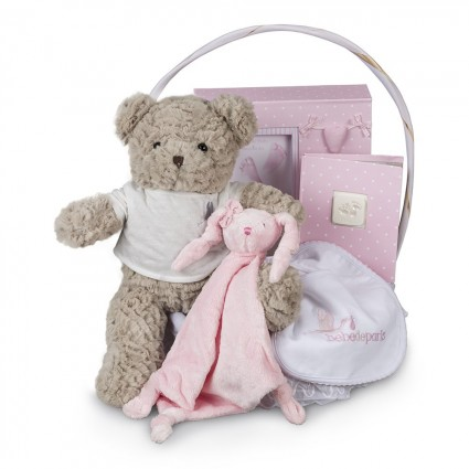Memories Essential Baby Gift Basket Pink