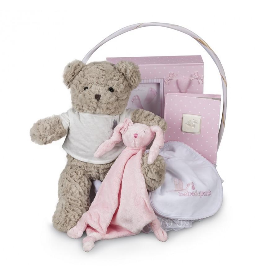 Memories Essential Baby Gift Basket Pink