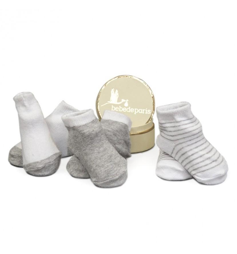 Lot 3 chaussettes grises