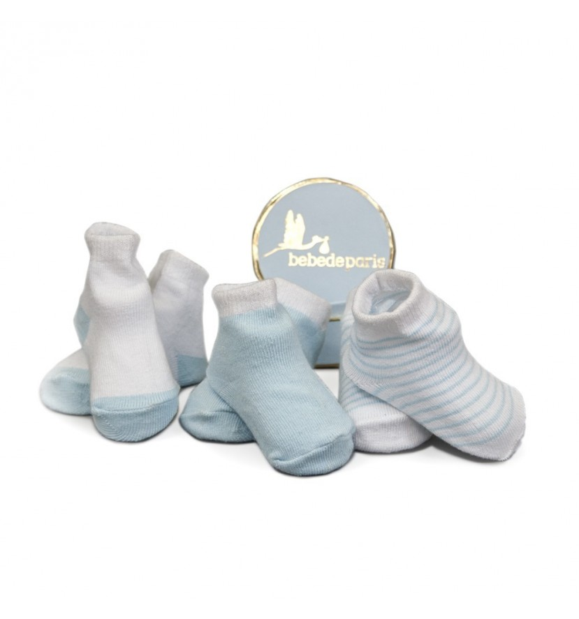 Blue Baby First Socks Gift Set