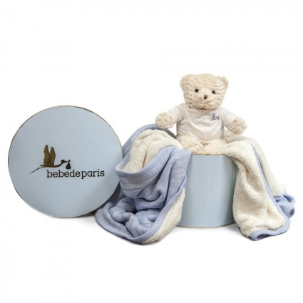 Blue Baby Deluxe Blanket Gift Set