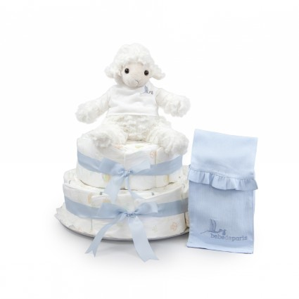 Sweet Sheep Nappy Cake Blue