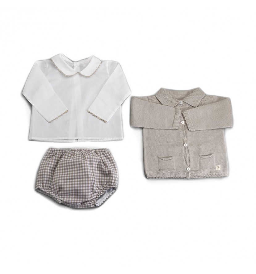 Beige Atelier London Baby Set