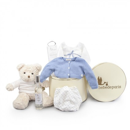 Atelier Vintage New York Baby Hamper Blue