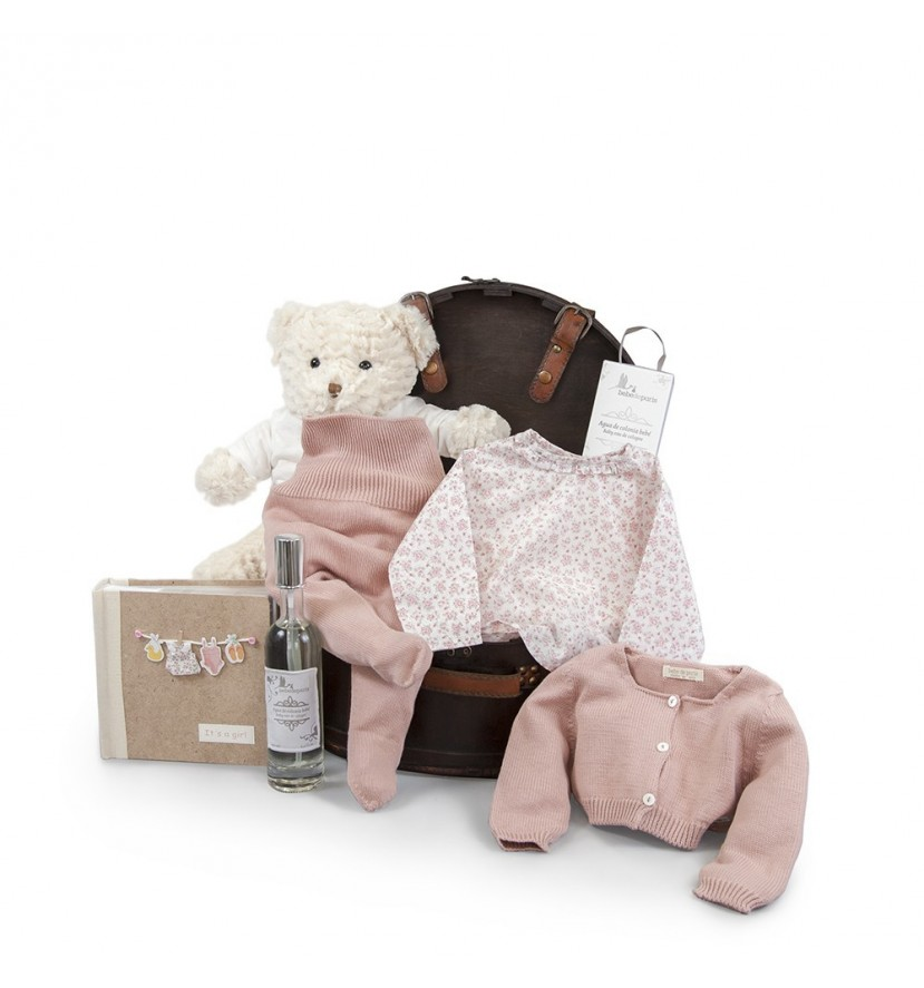 Atelier Coffre Paris Baby Basket Pink