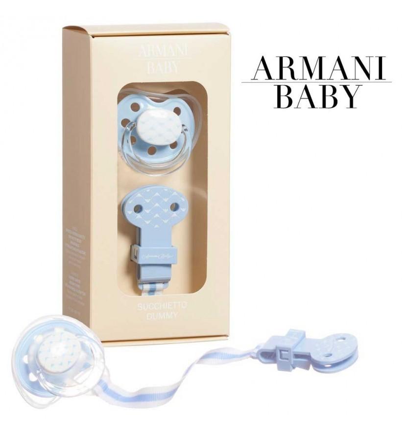 Tétine et pince Armani Baby