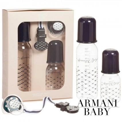 Lot biberons, tétine et attache tétine d'Armani Baby