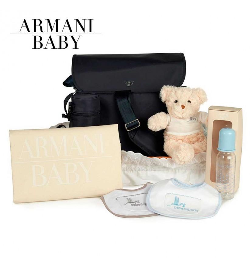 Panier naissance Armani voyage (bleu marine)