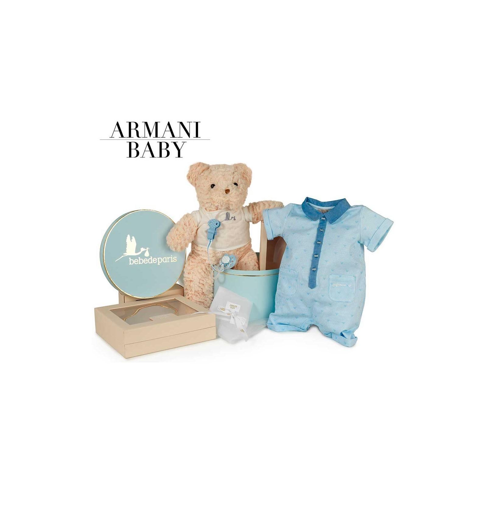 Corbeille bébé Armani sérénité   Bebe de Paris 3af9365b1db