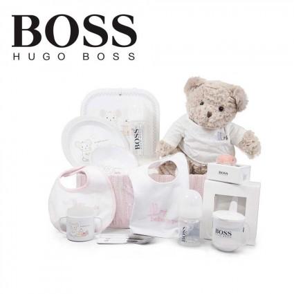 Panier naissance Hugo Boss fille gourmet