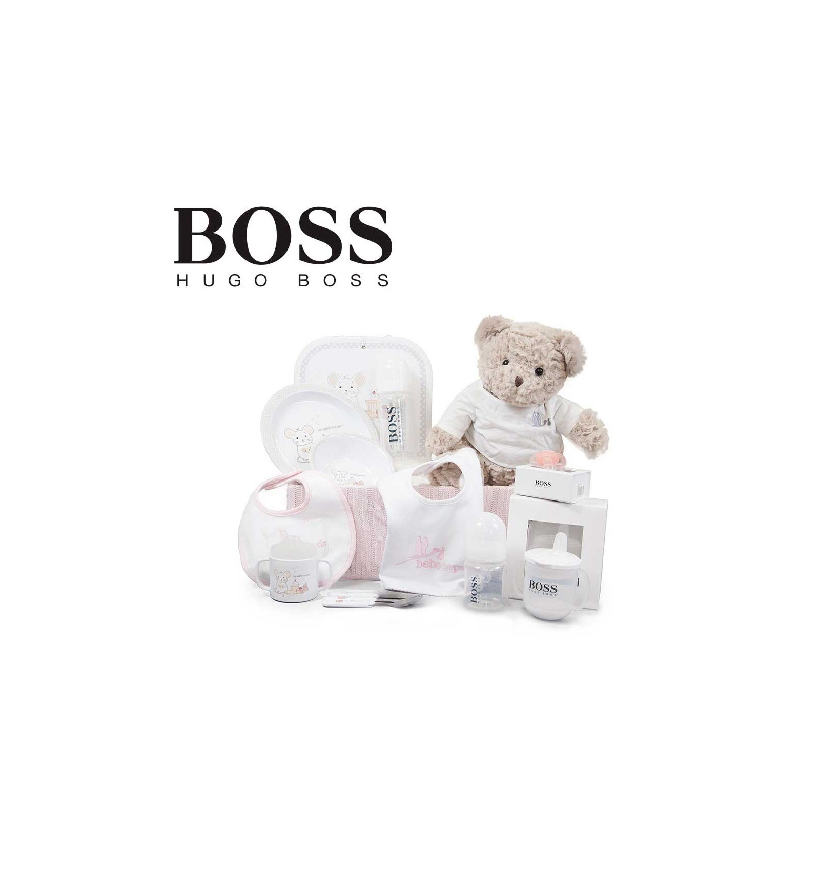 corbeille b b hugo boss fille gourmet bebe de paris. Black Bedroom Furniture Sets. Home Design Ideas