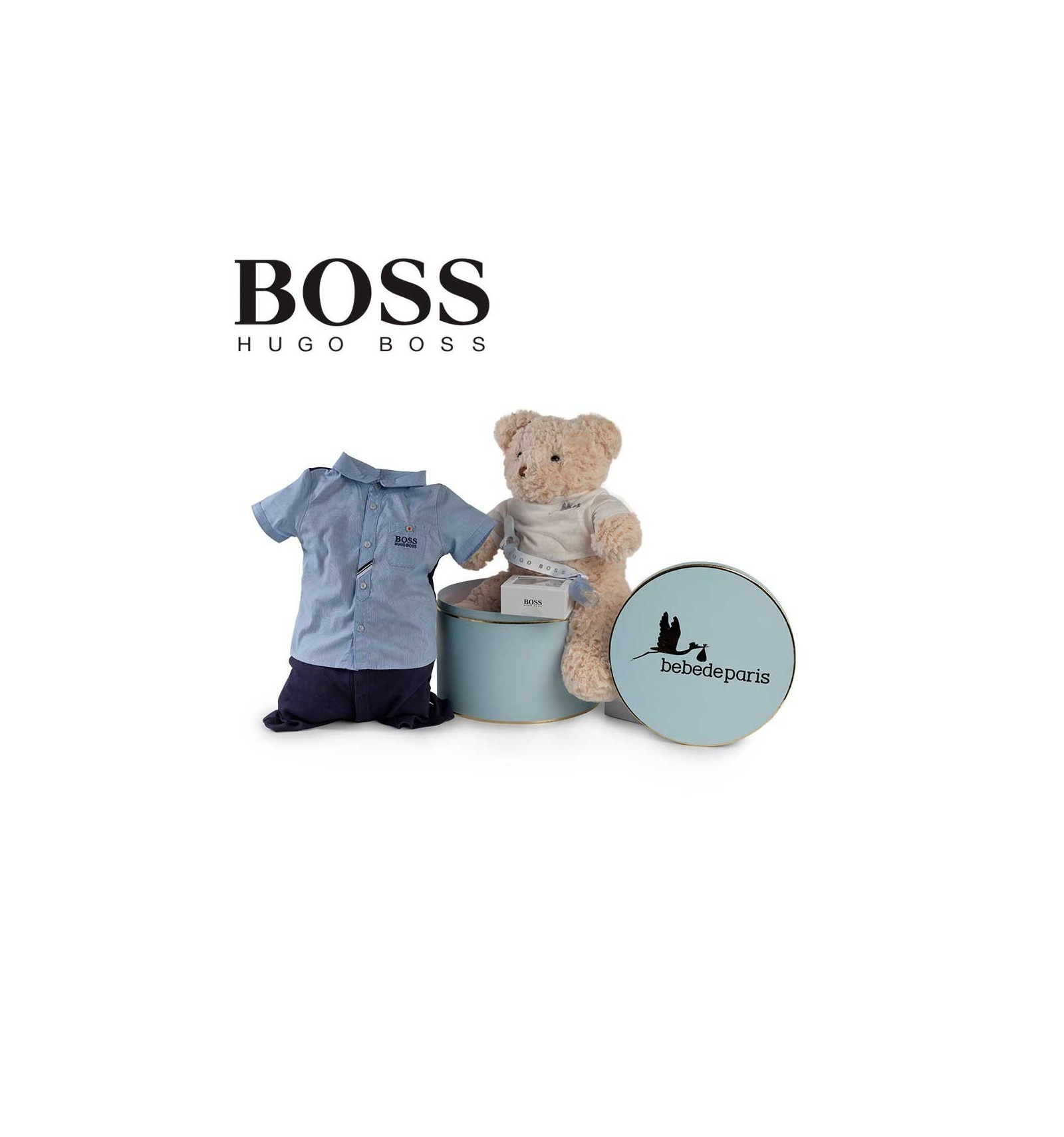 corbeille b b hugo boss urbain bebe de paris. Black Bedroom Furniture Sets. Home Design Ideas