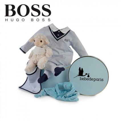 Panier naissance Hugo Boss sérénité (bleu marine)