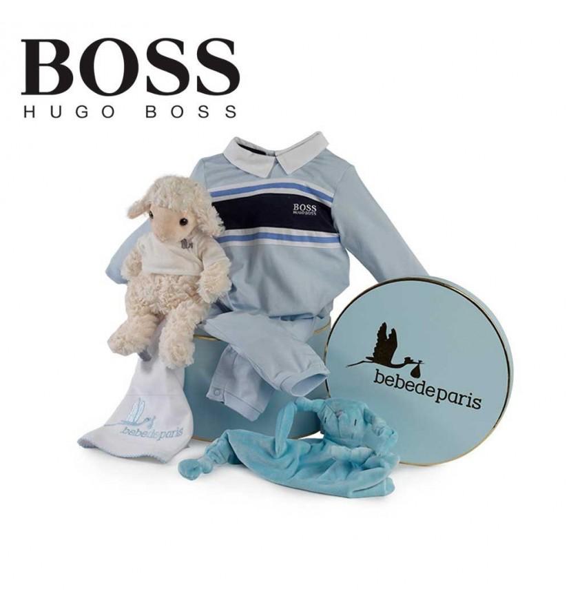 Panier naissance Hugo Boss sérénité (rayures)