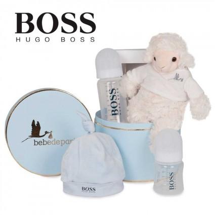 Panier naissance Hugo Boss bonnet