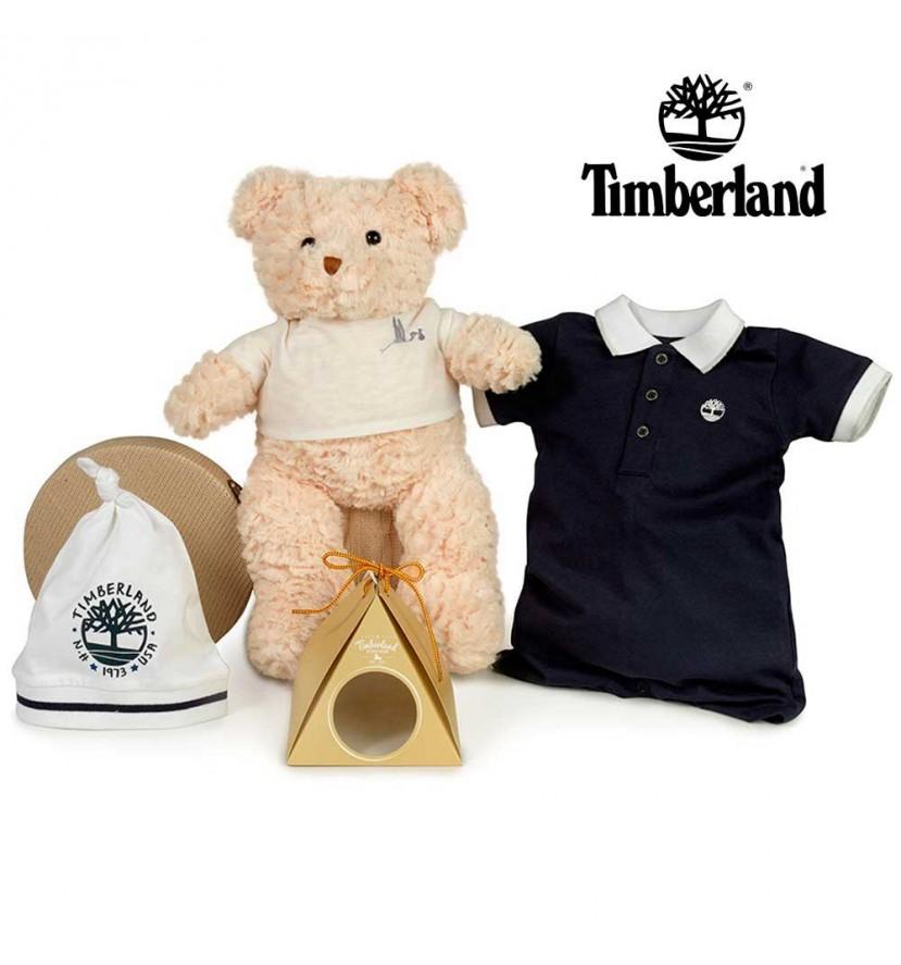 Panier naissance Timberland bonnet cadeau