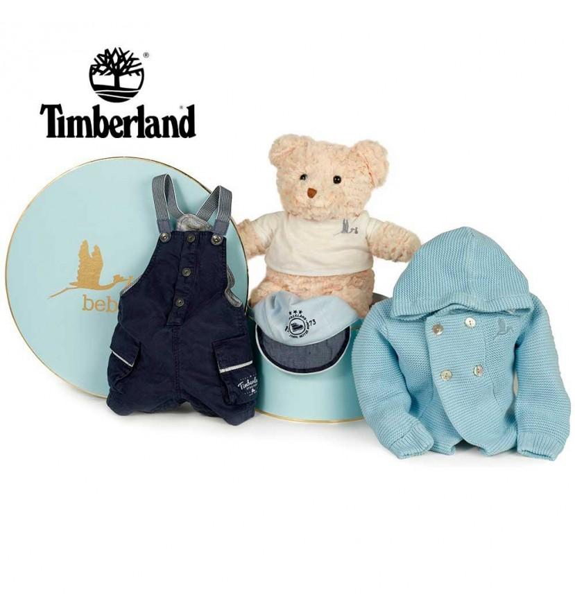 Panier naissance Timberland bleu