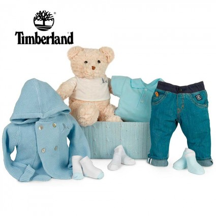 Panier naissance Timberland jean
