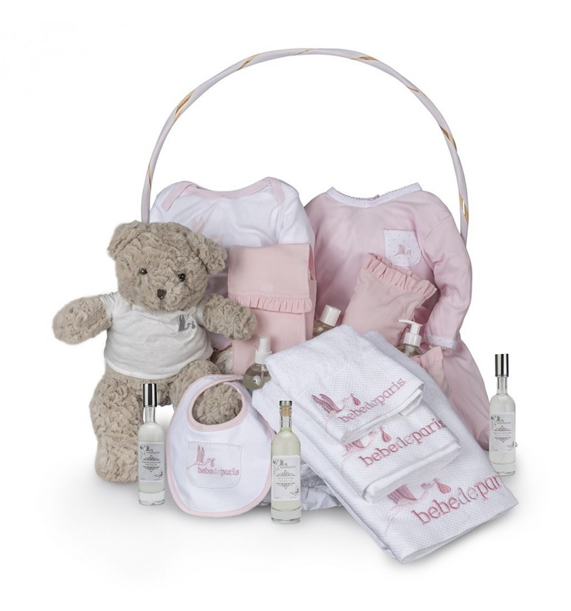 Spa Complete Baby Gift Basket Pink