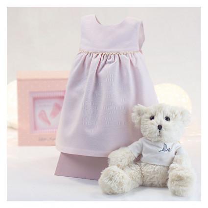 Robe bébé rose de 6-12 mois avec ours en peluche
