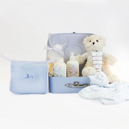 Malette avec pack cosmétique naturel pour bébés bleu