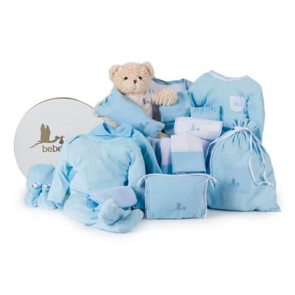 Panier naissance Songe classique bleu
