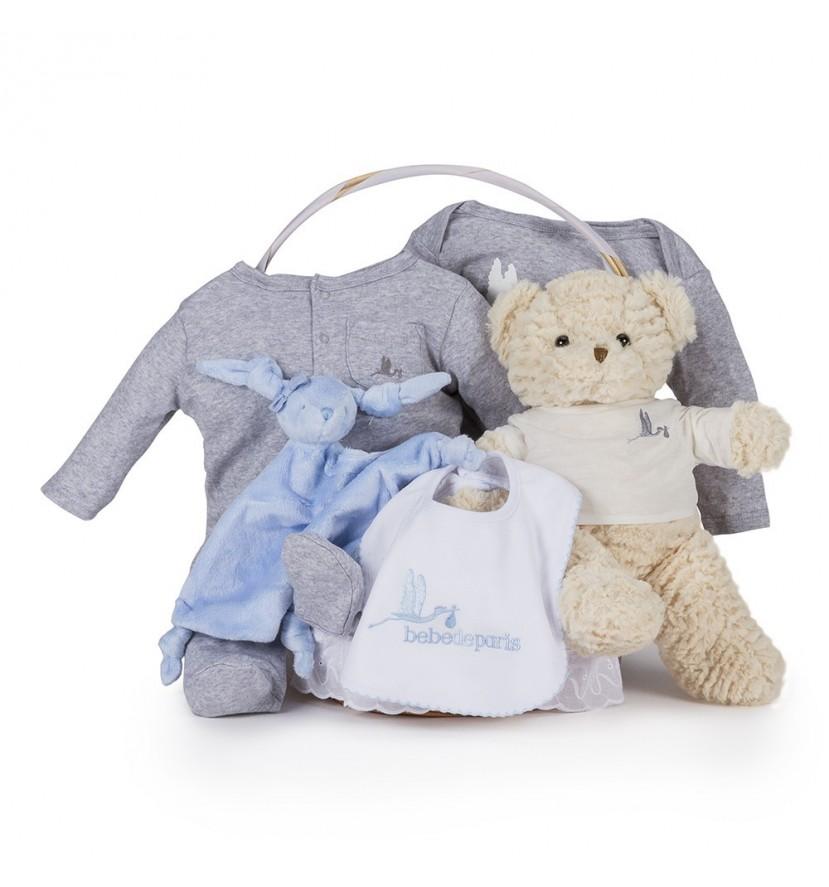 Panier naissance essentiel confort Bleu