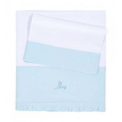 Lot de draps pour nouveau né bleu