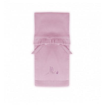 Pochette range couche rose