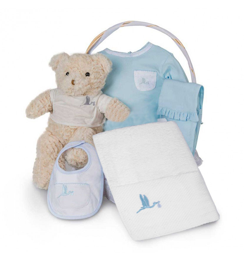 Spa Essential Baby Gift Basketbleu