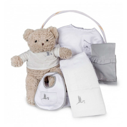 Spa Essential Baby Gift Basket	gris