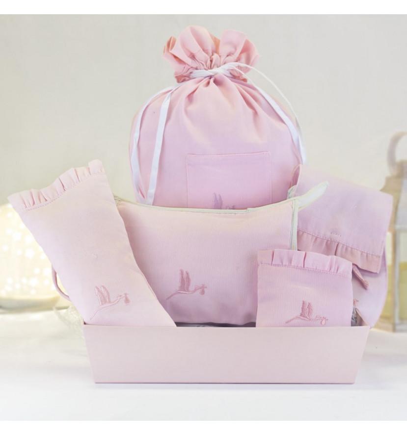 Kit cadeau housses accessoires bébé rose