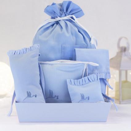 Kit cadeau housses accessoires bébé bleu