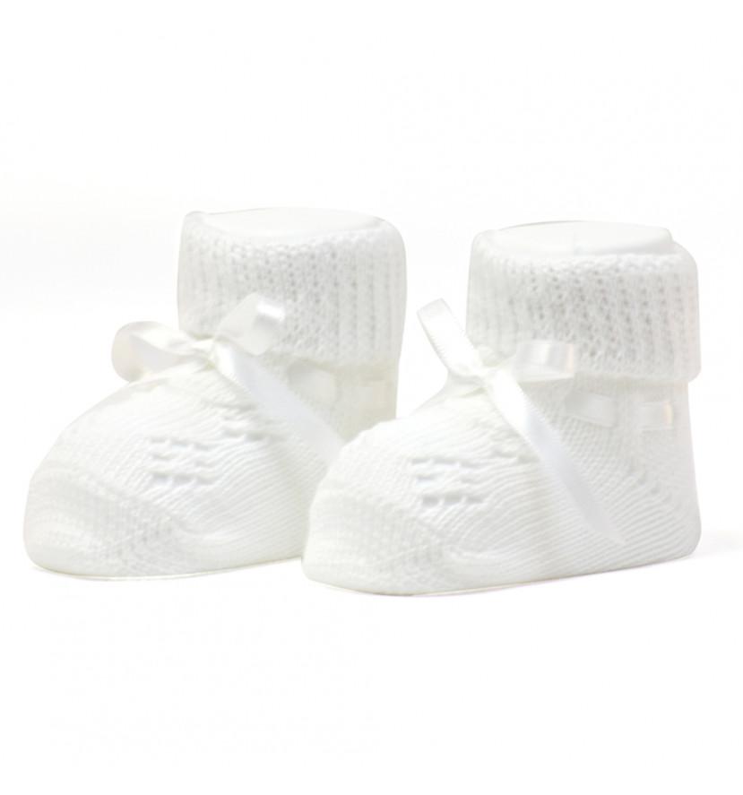 pari de chaussons tricote white