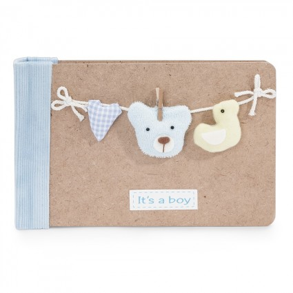 Baby Photo Album Bear Blue