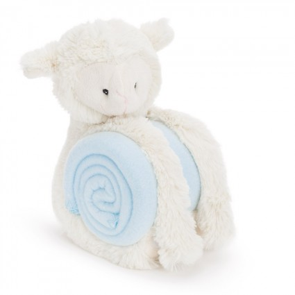 Blue Lamb Baby Blanket