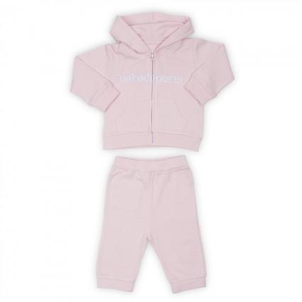 Ensemble de survêtement Bébé disponible en rose, bleu et gris