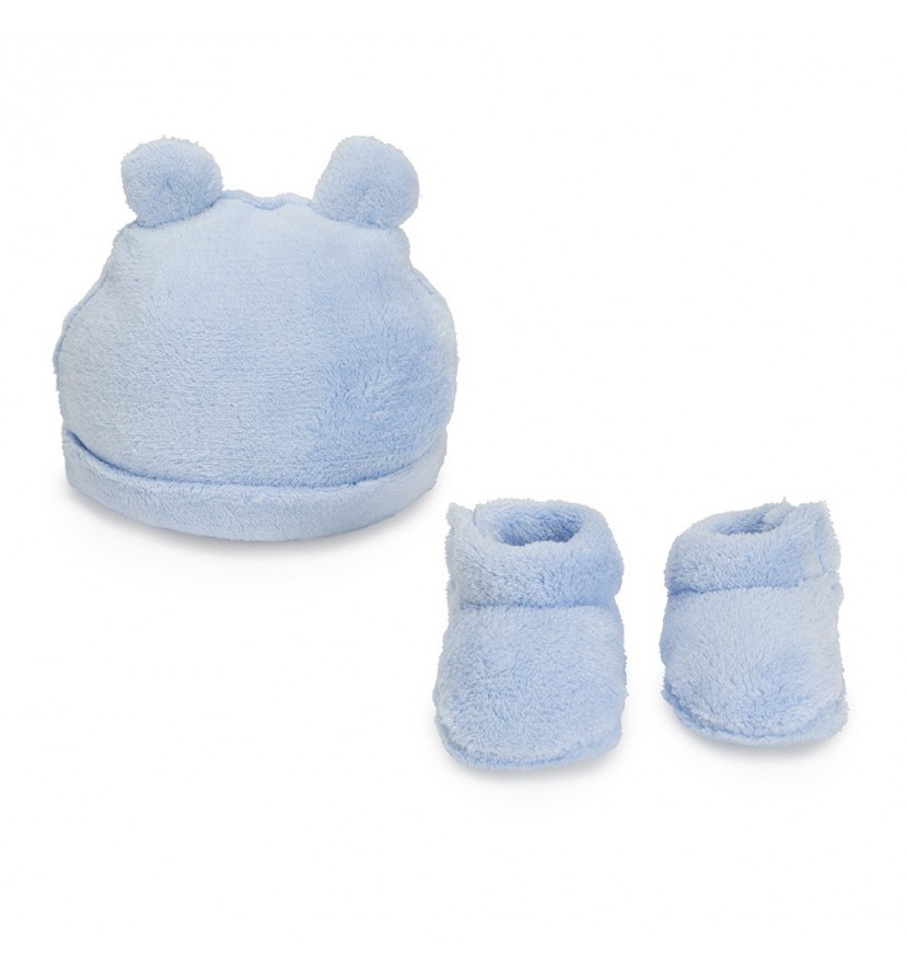 Lot Bonnet Chaussons en Bleu