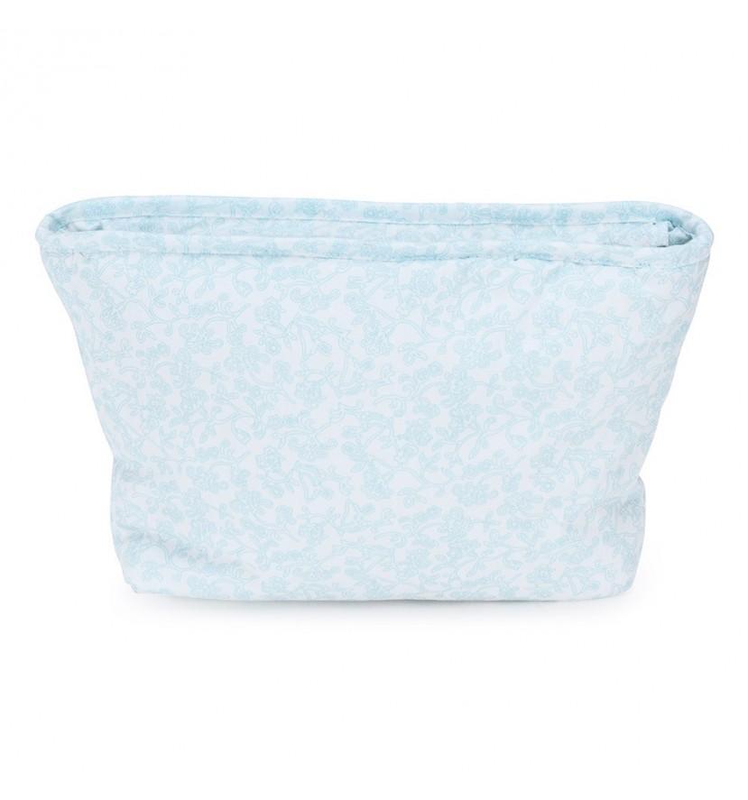 Trousse de toilette vintage bleue