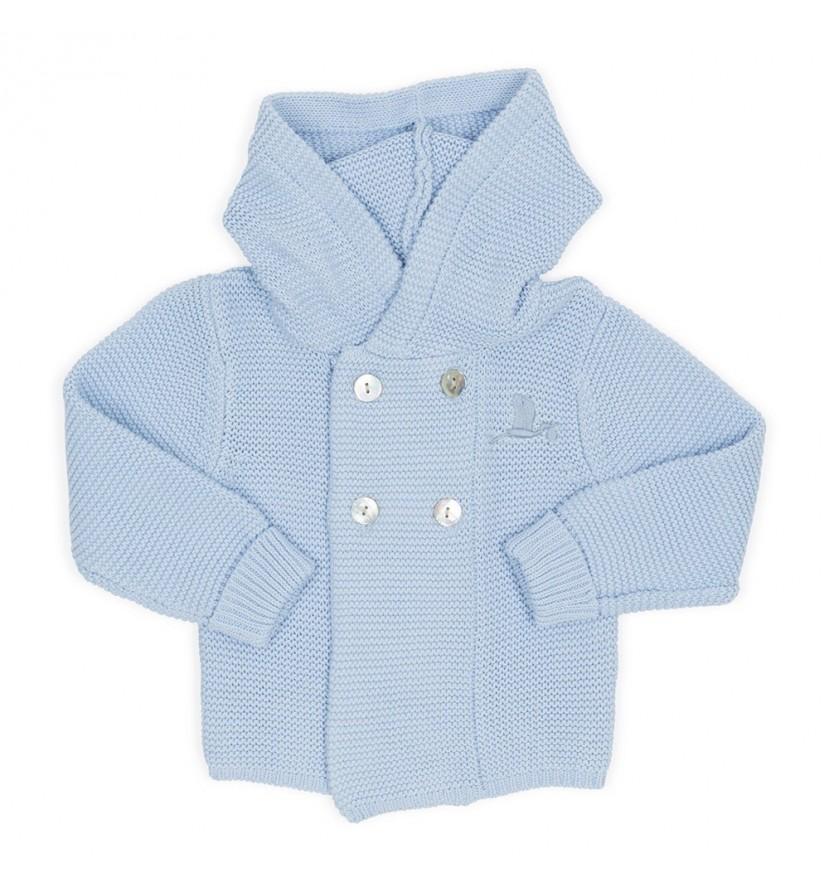 Veste tricot bleu